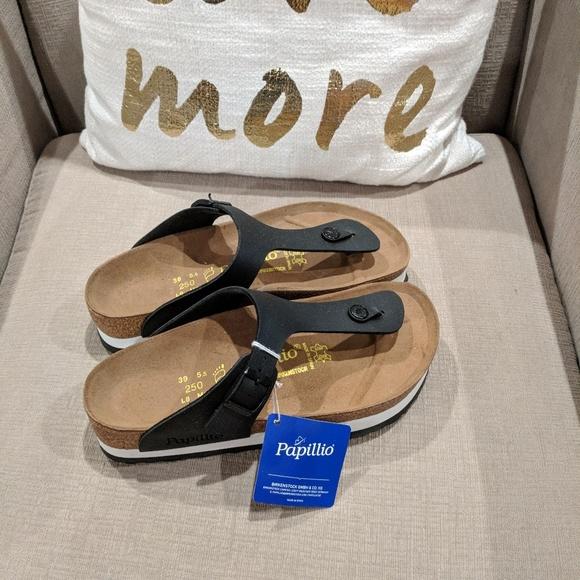 414a5ebd949f NIB Birkenstock black platform gizeh sandal sz 39